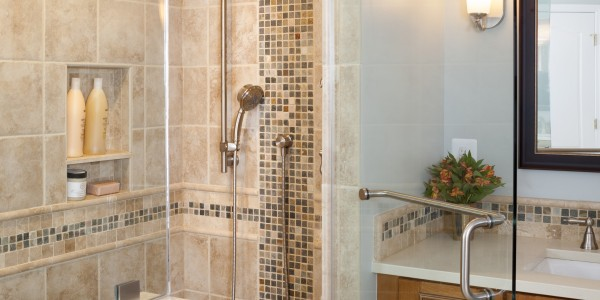 Bathroom remodel in Northern VA, MD, DC; large shower