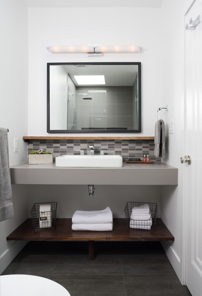 Bathroom Remodel In Northern VA, MD, DC; Floating Vanity; Under Cabinet